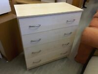 20% OFF ALL ITEMS SALE- Beech Effect Chest Of Drawers - Can Deliver For £19