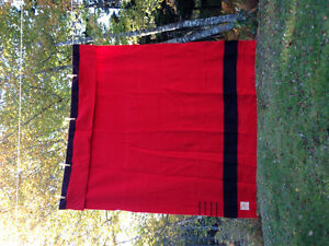 Hudsons Bay 4 point red 100% Wool Blanket