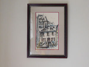 Watercolour on Ink Painting from 1969 Signed by Andre Desj Kitchener / Waterloo Kitchener Area image 1