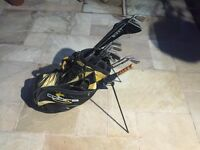 Hippo golf clubs with cobra bag