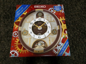 Brand new seiko 'melody in motion' wall clock