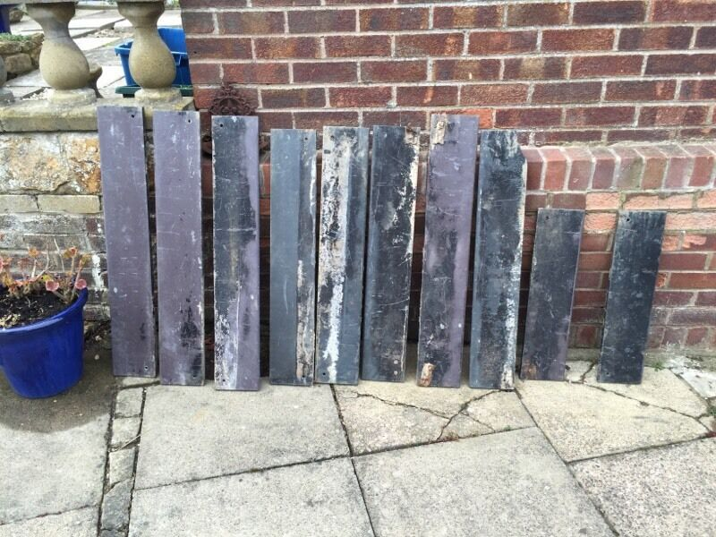 Solid Slate Lawn Edging Tiles