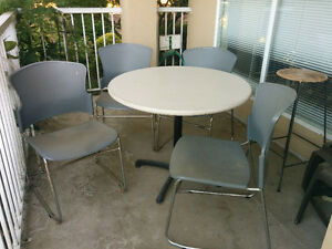 Sturdy patio table and 4 chairs - $45