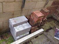 Job lot of blocks , bricks and 2 X lintels