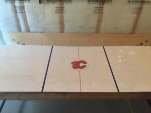 Calgary Flames rink beer pong table