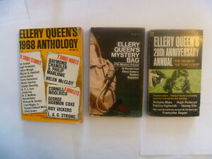 ELLERY QUEEN annuals/anthologies/hardcovers/pbs