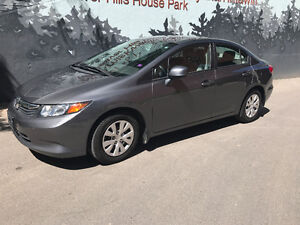 2012 Honda Civic LX, Low KMs! +4 winter tires, Negotiable Price
