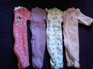 Baby girl clothes and diapers
