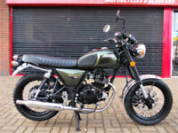 BULLIT MOTORCYCLES HUNT 125 S RETRO BRAND NEW 2 YEAR WARRANTY FINANCE