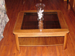 Glass Insert Coffee Table