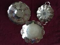 Silver Plated Serving Trays/Dishes