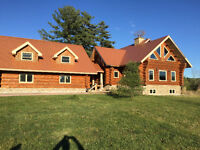 Wow! Custom Built Log home with Guest house and 30 Acres