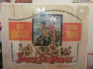 Movie Poster South Sea Woman Burt Lancaster Chuck Connors London Ontario image 1