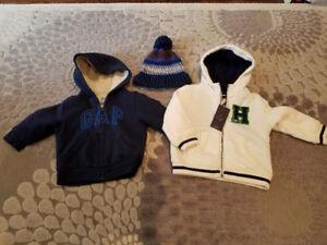 GAP fleece lined sweater 2T