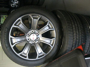 GMC denali 22'' rims and tires