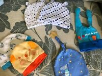 6 pieces baby cute hats never worn 0-9months