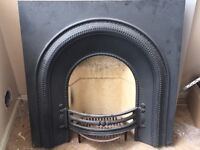 Reproduction cast iron fire surround and fire brick