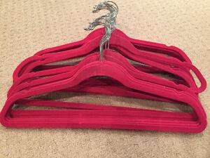 50 Pink Flocked Suit Hangers
