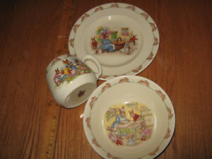 Royal Doulton Bunnykins bone china set