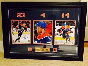 Triple signed hall Nugent hopkins Eberle  Strathcona County Edmonton Area image 1