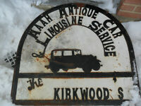 SIGN---COLLECTIBLE----old & heavy