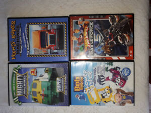 Mighty Machines, Bob the Builder, Hot Wheels DVDs