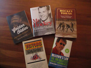 Hockey Books Including Mr. Hockey- 2 hardcover 3 paperback