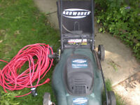 ELECTRIC LAWN MOWER WITH MULCH BAG AND CORD