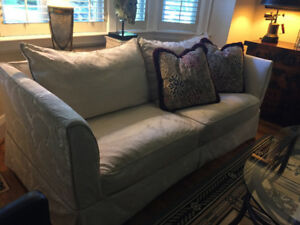 Beautiful white three seated sofa