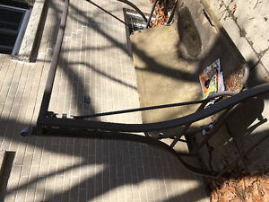 Free patio swing torn seat or scrap metal