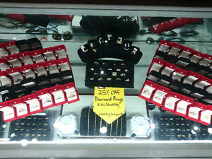 GREAT JEWELRY SELECTION! 25% DIAMOND RINGS ALL AUGUST!
