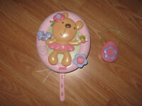 Fisher Price music and light crib toy with remote