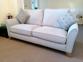 Grey 3 seater sofa with cushions from OakFurnitureland