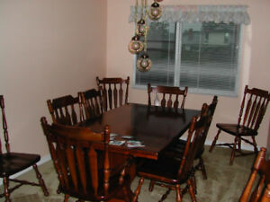 Large Pine Dining Room Set
