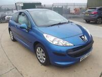Peugeot 207 1.4HDI 70 ( a/c ) S 2007 BLUE MET, ONLY 79,000 MILES