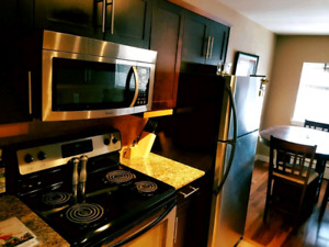 Spacious 2 bedroom fully-furnished suite