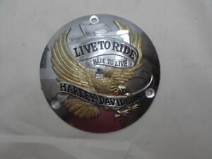 Harley Davidson 3 hole Live to Ride Derby Cover