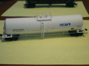 HO scale CGTX tank car for electric model trains