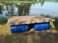 HOME MADE DOCK-RAFT  5 1/2 FT X 8 FT