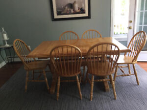 Bass River solid birch dining set