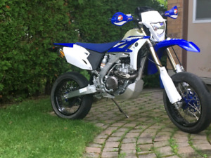 yamaha wr450 supermoto street legal blue plated.