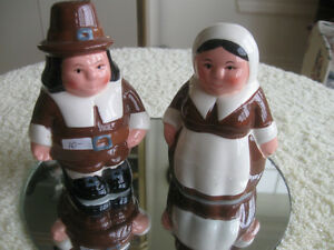A PAIR of LARGE OLD-FASHIONED SALT & PEPPER SHAKERS