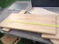 Oak effect worktop offcut from howdens