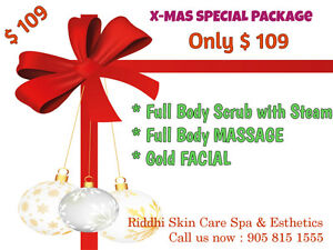 Only 110$ Full body scrub w/steam+Ma$$age+Gold Facial..spa Cambridge Kitchener Area image 1