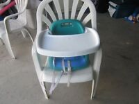 evenflo snack n play portable chair with tray  (booster chair)