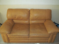 Butterscotch Leather Love Seat