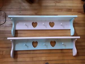 Freshly paanted Shelves