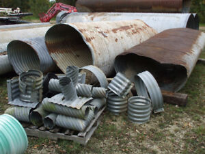 Used Culverts; steel piping, & plastic piping