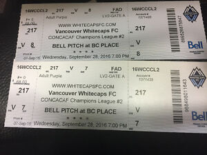 Vancouver Whitecaps September 28--- 2 tickets section 217