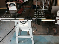 "Rexon 10"" 120v/240v Table Saw with extras"